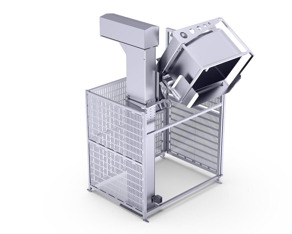 Lifting and Tilting Device by Alco Food Machines Conveyor Technology