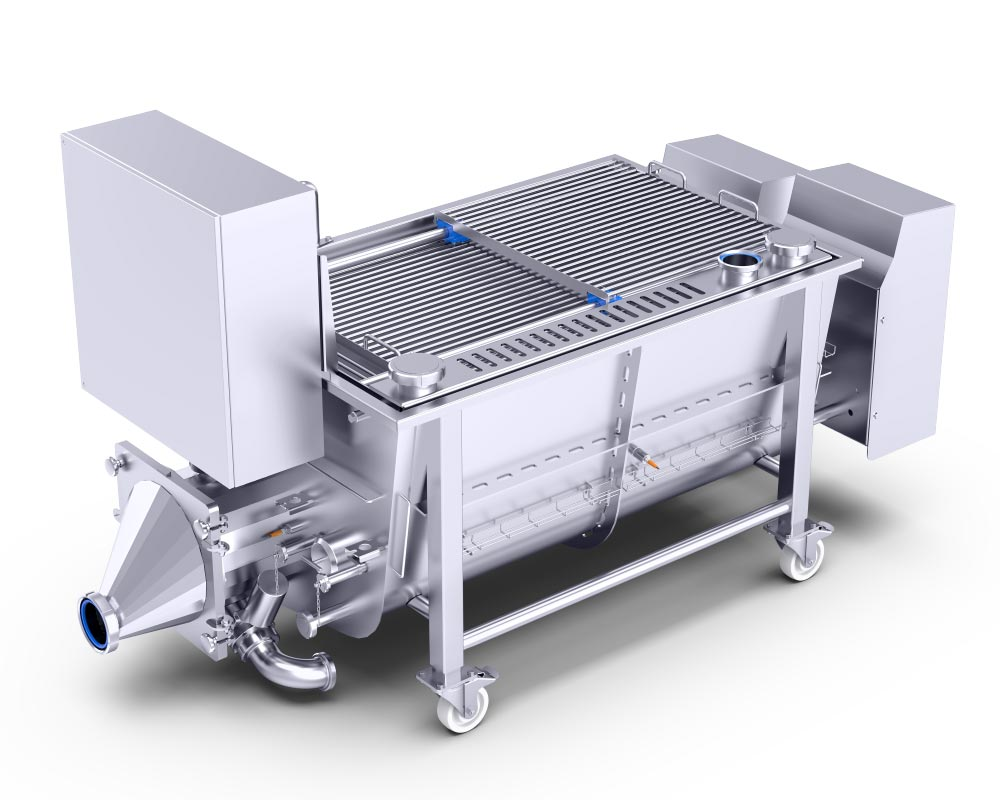Buffer funnel by Alco Food Machines Conveyor Technology